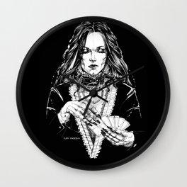 Smoker Lady. In Black Silk. Yury Fadeev Wall Clock