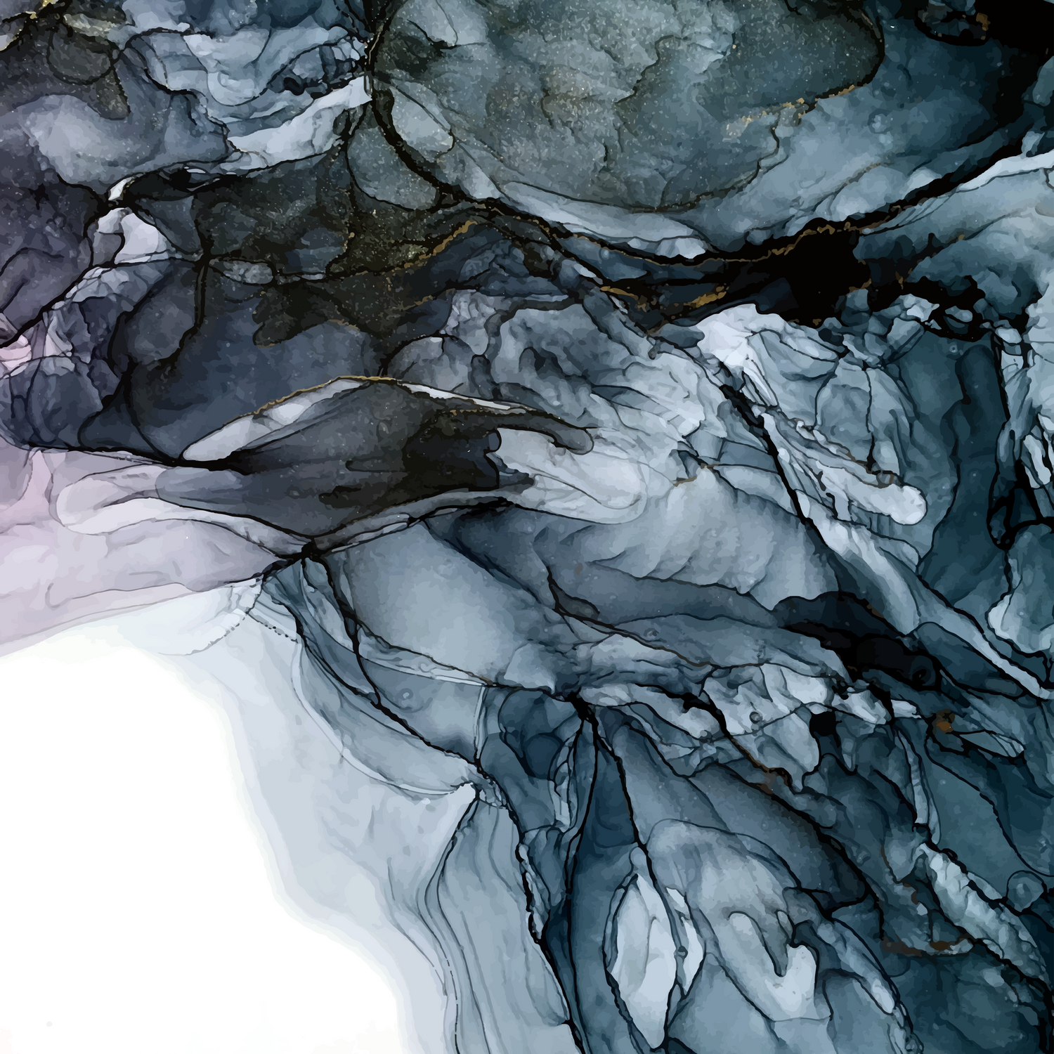 Dark Payne S Grey Flowing Abstract Painting Comforters