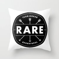 rare Throw Pillows featuring Rare by Taylor Shute