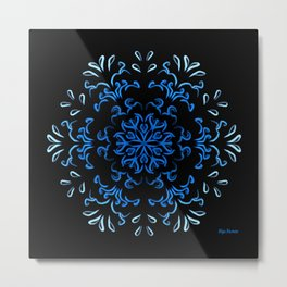 """""""Ka heʻenalu"""" Dark Surf Metal Print"""