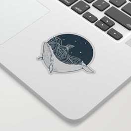 Whale dream Sticker