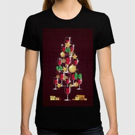 Happy Red Wine Tree T-shirt