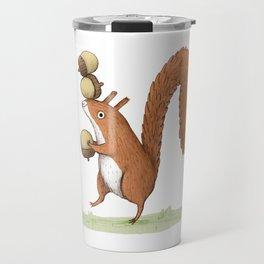 Squirrel With Acorns Travel Mug