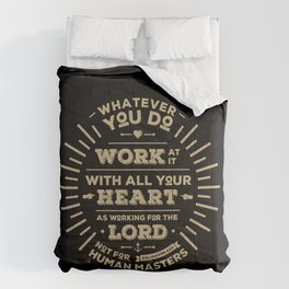 Colossians 3 vers 23 Comforters