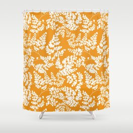 Spring Orange Shower Curtain