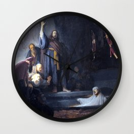 Rembrandt The Raising of Lazarus Wall Clock