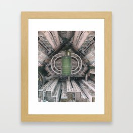 A court in the city Framed Art Print