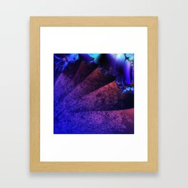 Pleated fantasy forest Framed Art Print
