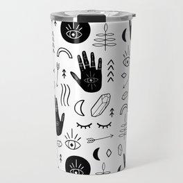 Witchy Patterns Travel Mug