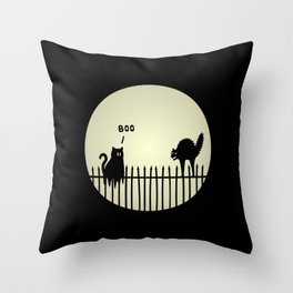 Catrick's Halloween Tricks Throw Pillow