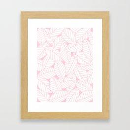 Leaves in Rose Framed Art Print