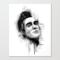 the smiths Canvas Prints featuring Smiths  by Mr Skillmatik