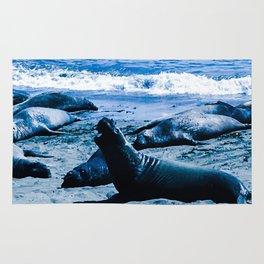 Elephant Seal Blues Rug