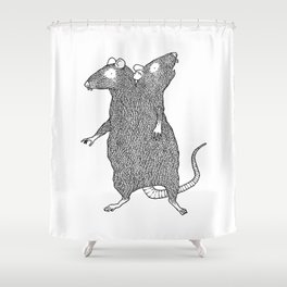 Two Headed Rat, I Love You Shower Curtain
