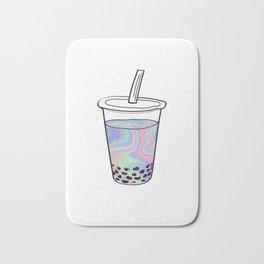 Holographic Bubble Tea Bath Mat