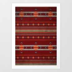Efinity Pattern Red Art Print