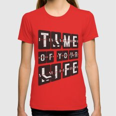 Time of Your Life MEDIUM Red Womens Fitted Tee