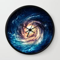 xbox Wall Clocks featuring Spiral Galaxy by Zavu