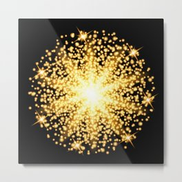 Abstract gold glow light effect Metal Print