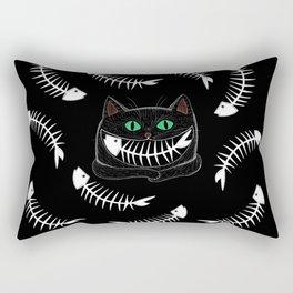 Fish Eating Grin Rectangular Pillow