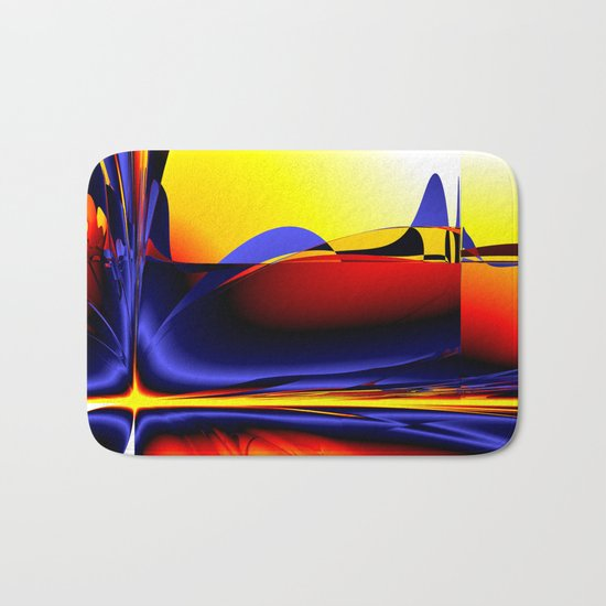 abstract shapes Bath Mat