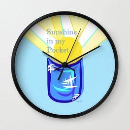 Sunshine in my Pocket Wall Clock