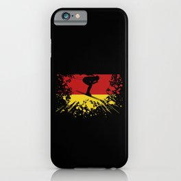 Alpine Skiing Germany GER Skier Nation Retro Flag iPhone Case