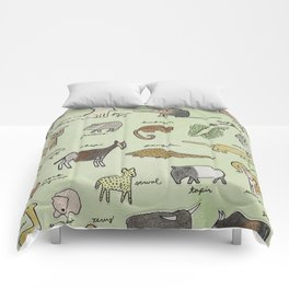 The Obscure Animal Alphabet Comforters