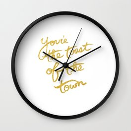 You're the toast of the town!  Wall Clock