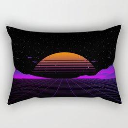 Vaporwave Outrun | Eighties Style Rectangular Pillow
