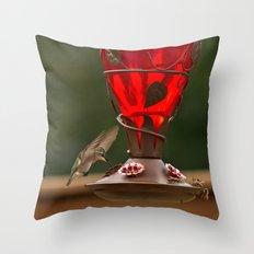 Hummingbird Legend Throw Pillow