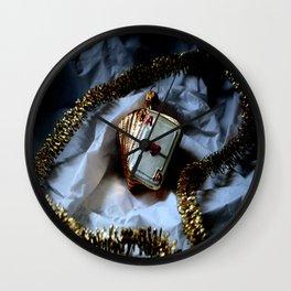 Merry Christmas Aces High Wall Clock