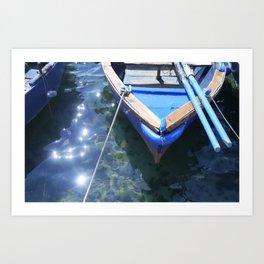 Italian boat Art Print