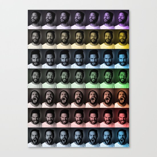 seven deadly faces Canvas Print