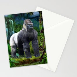 Silverback Gorilla Guardian of the Rainforest Stationery Cards