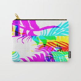 Glitch botany palm leaves set and summer jungle watercolor palm. Carry-All Pouch