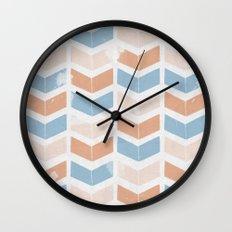 stamb chevron 2 Wall Clock