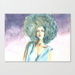 Green lady Canvas Print