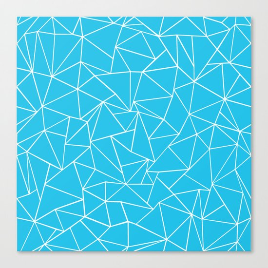 Ab Outline Electric Canvas Print