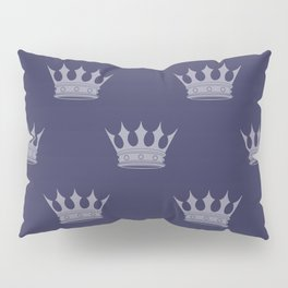 Royal Blue with Light Blue Crowns Pillow Sham