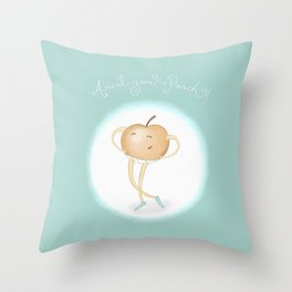 Aren't you a Peach? Throw Pillow