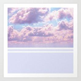 Dreamy Pastel Sky on Violet Art Print