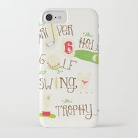 golf iPhone & iPod Cases featuring Golf  by Crea Bisontine