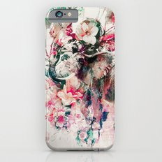 Watercolor Elephant and Flowers iPhone 6 Slim Case
