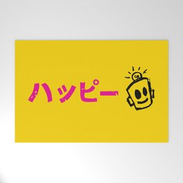 HAPPY Japanese Welcome Mat
