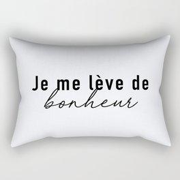 104. I wake up (early) HAPPY Rectangular Pillow