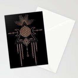 Mandala Flower of Life Rose Gold Pink Stationery Cards