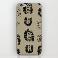 shoe iPhone & iPod Skins featuring Shoe Prints by Zen and Chic