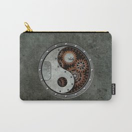Industrial Steampunk Yin Yang with Gears Carry-All Pouch