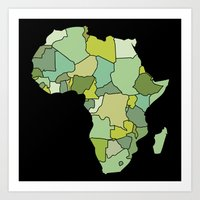 south africa Art Prints featuring Africa by Emir Simsek